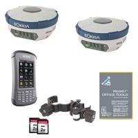 Комплект из двух геодезических спутниковых приемников GRX2 DUHFII/GSM и контроллера Archer2 и Magnet Field GPS+
