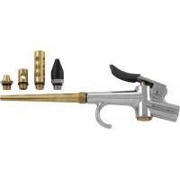 Пистолет пневматичесикй продувочный с насадками, набор