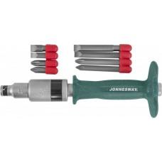 Набор ударных отверток SL 8, 10 (36, 80 мм), PH# 2, 3 (36, 80 мм), 9 предметов