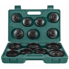 Комплект чашек для демонтажа масляных фильтров 65-100 мм, 15 предметов