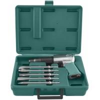 Набор пневматического инструмента: молоток - 2100 уд./мин., 283 л/мин и комплект насадок, 8 предметов