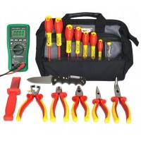 SK-16 B1 - набор изолированного инструмента электрика в сумке, 17 предметов